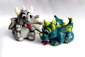 Fimo Dragonlings by El-Sharra