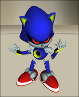 Classic Metal Sonic .Pose-Copy. by Starruka