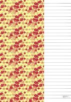 Red Blossoms Star Paper by kAt-LIkeS-pIE