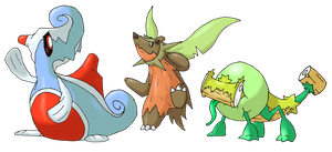 Starter evos by Smiley-Fakemon