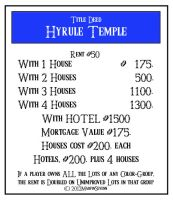 Hyrule Temple Property Card by MARVINSEVENN