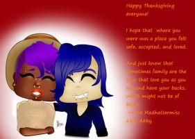 Happy Thanksgiving with Nixx and Thorn! by MadhatterMiss