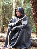 Gray Hooded Cloak by Thaly