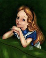 Disney Coloring Book - Alice 2 by meMilly