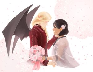 Niccolo and Nasim's wedding- commission by anakareninart
