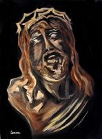 The Face of Jesus by dx