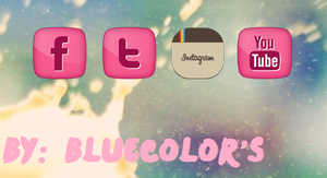 Redes Sociales By BlueColor's by Melany1D