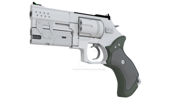 3D Smith and Wesson 686 Tactical Revolver (WIP) by DeRezzurektion