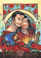 Superman and Lois artist proof by CassandraJames