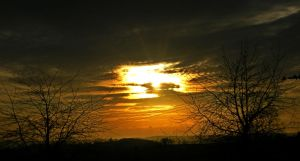 Sunset at Twycross by Wadyface