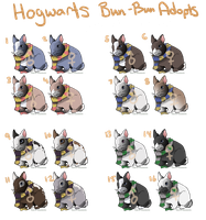 OPEN Adopts-  25 POINT Hogwarts Bunnies by AlbinoBadger
