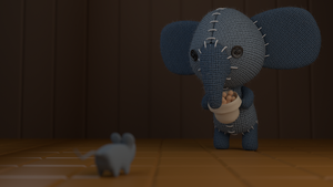 cute elephant and mouse by cesterical