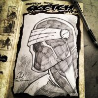 Snake eyes head sketch by JoeyVazquez