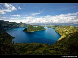 Cuicocha Crater Lake 10,649 ft by justinblackphotos