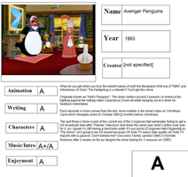 Cartoon Report Card: Avenger Penguins by CyberFox