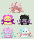 Adoptables - Set Price 01 (OPEN) by PixyPersephone