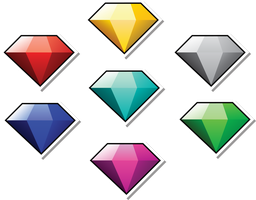 Chaos Emeralds - Paper Style by DPghoastmaniac2