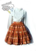 Strawberry and chocolate border skirt by The-Cute-Storm