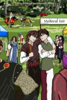 Duo and Heero at the ren fair by kracken
