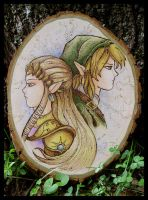 Zelda and Link by benwhoski