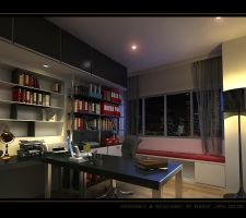 Night in study room by red-brent