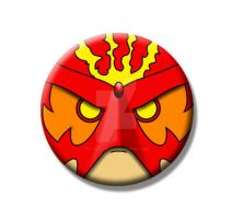 Sunfire Old School Button by Mutant-Cactus
