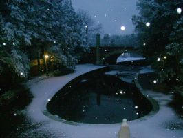 Nightly snow at the Lagoon by Lilrxox
