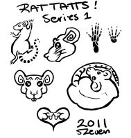 Rat Tattoo Pack 1 by The-Monstrum