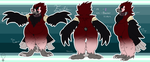Official Reference Sheet: Faith Bearded Vulture by PlumpProductions