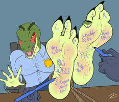 Ms.Croc gets tickled by zp92