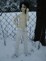 Shirtless in the Snow by Tamlin-Haven
