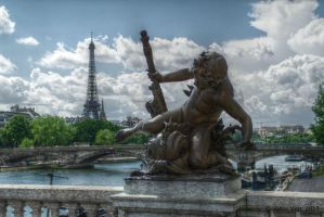 View towards the Eiffel Tower by friedapi
