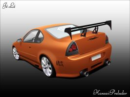 Honda Prelude Cartoon by LeemansJ