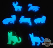 Patronus Charm necklaces - Glow in the Dark by ilikeshiniesfakery