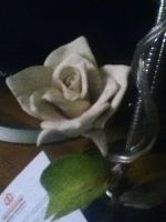 My first rose out of clay by Crossing-Borders