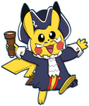 Colonial Pikachu by Fishlover