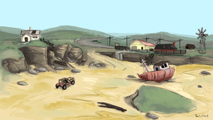 Day 2 - Desert/Wasteland by TheSpectral-Wolf