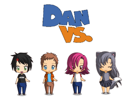 Chibi/Anime Dan Vs. by Toongirl18