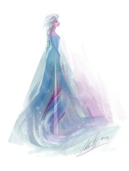 Elsa the Snow Queen by nuriaabajo