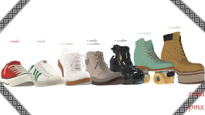 |MMD|Shoes pack convert from Sims 3 Download by Dastezi