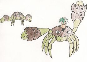 The Coconut crab pokemon by KingDiscord