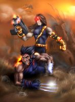 Wolverine Vs. Cyclops - AOA by Xzanthis
