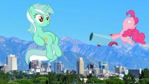 Giant Ponies in Salt Lake City by sonigoku
