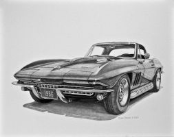 1966 Chevrolet Corvette Two Door Coupe Graphite by Daniel-Storm