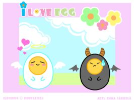 .::I Love Egg::. by ZombiDJ