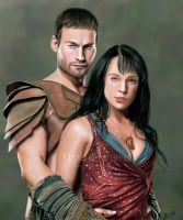 Spartacus and Sura by 0Snow-White0