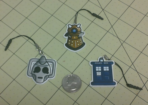 For Sale - Doctor Who Phone Charms by Wolferahm