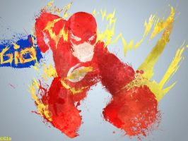 The Flash splatter by gio-luckyboy