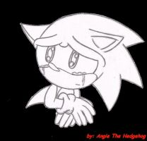 Cry Sonic by AngieTheHedgehog