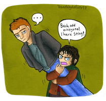 Frodo and Sting...wait what? by Deathlydollies13